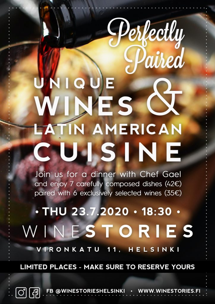 Unique Wines & Latin American Cuisine / 23.7.2020