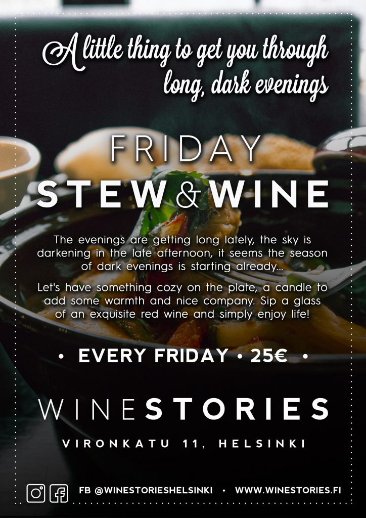 Friday Stew & Wine / every Friday of October 2020